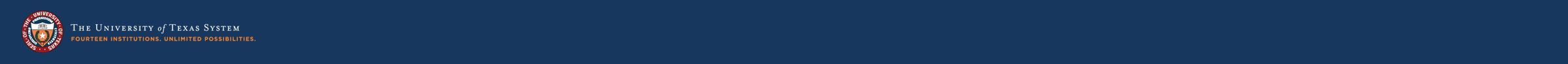 Ut system logo blue background extended 1